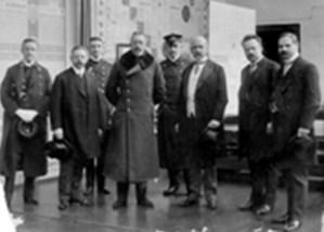 Kaiser Wilhelm II odwiedza Fabrykę Goerzwerk